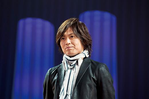 2015年度近畿大学入学式でのつんく♂さん。(つんく♂著『「だから、生きる。」』より)
