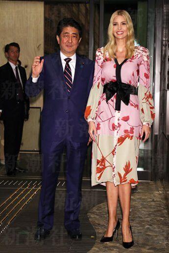星のや東京で行われた安倍首相によるイヴァンカさんの接待
