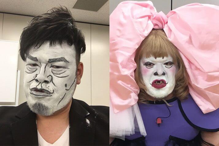 似てないけど似ている「白塗りモノマネ」(左)宮迫博之、(右)きゃりーぱみゅぱみゅ(提供=よしもとクリエイティブ・エージェンシー)