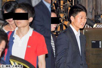 岸信夫氏の次男(左)と長男・信千世氏(右)((左)撮影・大橋和典)