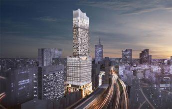 超高層ビルの完成予想図