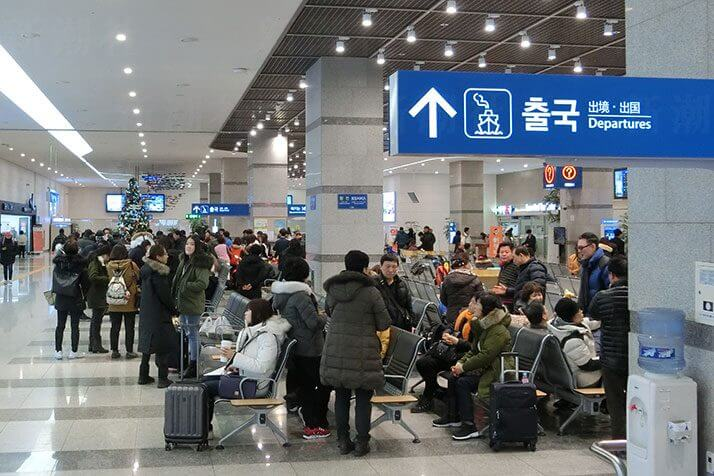 釜山港のターミナル
