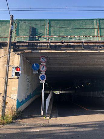 事件現場の梶ヶ谷トンネル