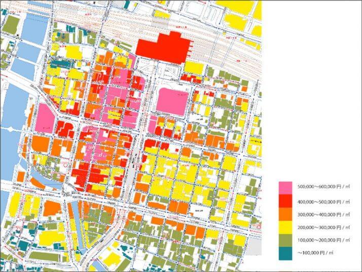 家賃断層マップ