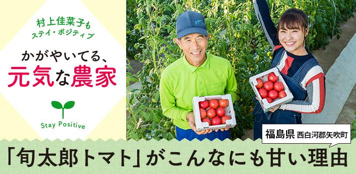 「旬太郎トマト」がこんなにも甘い理由――かがやいてる、元気な農家