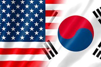 韓国&米国国旗