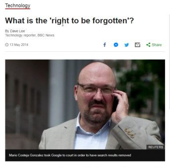 「忘れられる権利」に弱い「日本」闘う「欧米」違いの本質