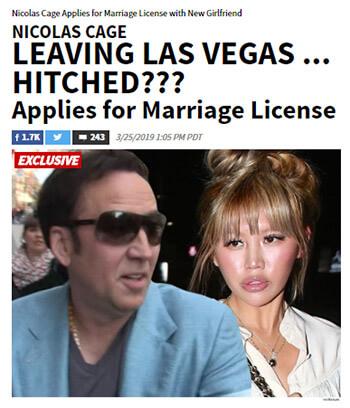 """【海外】「ニコラス・ケイジ」が4日で離婚 日本人""""エリカ""""とは何者か"""